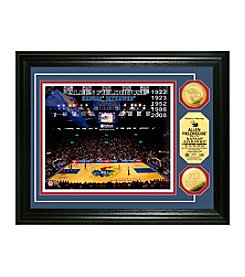 NCAA® University of Kansas Court Gold Minted Coin Photo