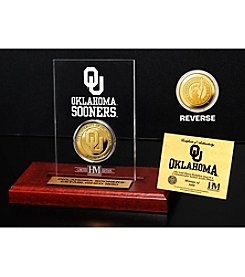 NCAA® University of Oklahoma Gold Coin Etched Acrylic