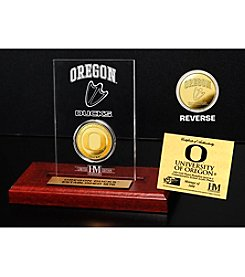 NCAA® University of Oregon Gold Coin Etched Acrylic
