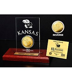 NCAA® University of Kansas Gold Coin Etched Acrylic