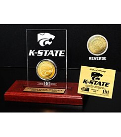 NCAA® Kansas State University Gold Coin Etched Acrylic