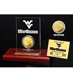NCAA® West Virginia University Gold Coin Etched Acrylic