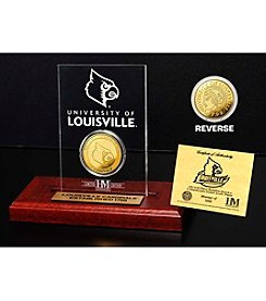 NCAA® University of Louisville Gold Coin Etched Acrylic