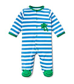 Little Me® Baby Boys' Blue/Green Leap Frog Footie