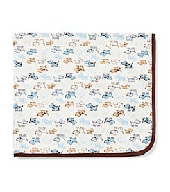 Little Me® Baby Boys' Blue Cute Puppies Blanket