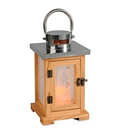 Gerson Wood Lanterns with Frosted Glass