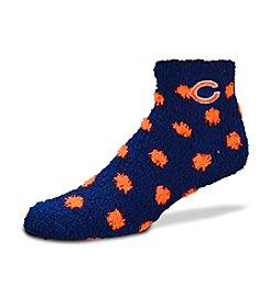 For Bare Feet Chicago Bears Navy Polka Dot Sleep Soft Socks