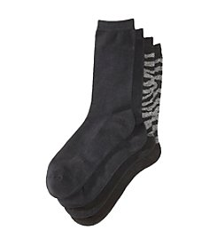 Relativity® 2-Pack Pillow Sole Rayon From Bamboo Crew Socks