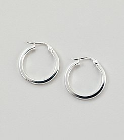 Designs by FMC Sterling Silver 20mm Square Hoop Click Top Earrings