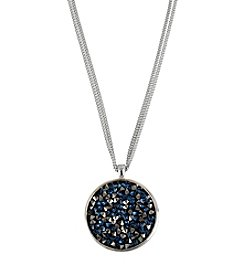 Kenneth Cole® Blue/Black Diamond Faceted Bead Round Pendant Necklace