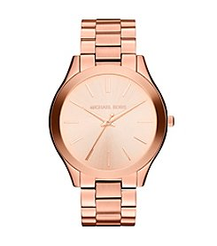 Michael Kors® Mid-Size Rose Goldtone Stainless Steel Slim Runway Three-Hand Watch