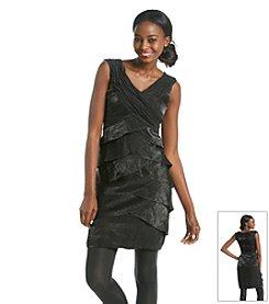 London Times® Tiered Shutter Dress