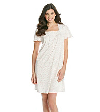 Aria® Short Knit Gown - Ivory Ditsy