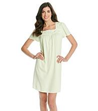 Aria® Short Knit Gown - Mint Dot