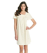 Aria® Short Knit Gown - Butter Ditsy