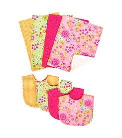 Trend Lab Sherbet 8-pk. Bib and Burp Cloth Bouquet Set