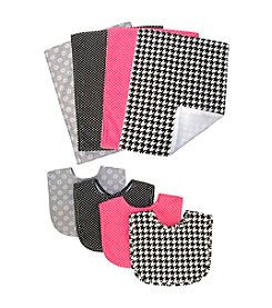 Trend Lab Serena 8-pk. Bib and Burp Cloth Bouquet Set