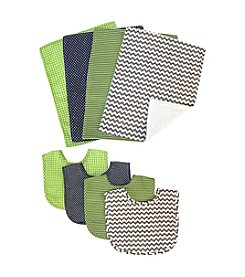 Trend Lab Perfectly Preppy 8-pk. Bib and Burp Cloth Bouquet Set