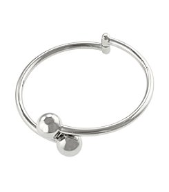 Sterling Silver Bypass Bangle