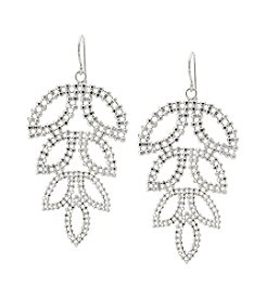 Sterling Silver Diamond Cut Drop Petal Earrings