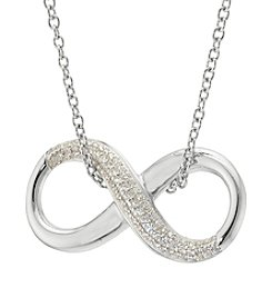 Sterling Silver Infinity Crystal Necklace