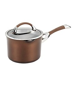 Circulon® Symmetry 3.5-qt. Chocolate Covered Straining Saucepan