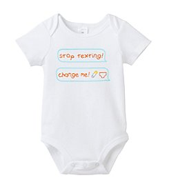 Cuddle Bear® Baby White Change Me Bodysuit
