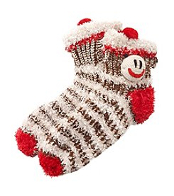Legale® Brown Sock Monkey Slippers *
