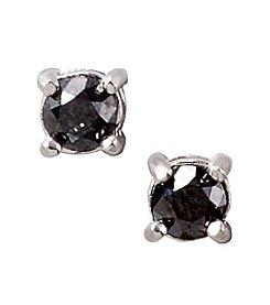 Designs by FMC Sterling Silver 0.5 ct. t.w. Black Diamond Stud Earrings Boxed