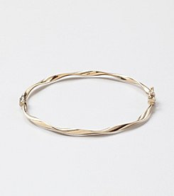 14K Yellow Gold 3mm Polished Twist Bangle