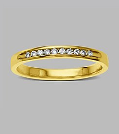 0.12 ct. t.w. Diamond Band Ring in 10K Yellow Gold
