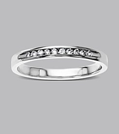 0.12 ct. t.w. Diamond Channel Band Ring in 10K White Gold