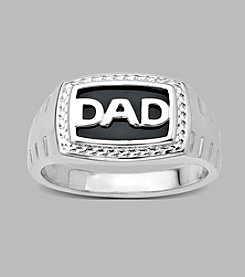 Sterling Silver and Black Onyx Dad Ring
