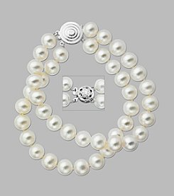 8mm Freshwater Pearl Bracelet with Sterling Silver Clasp