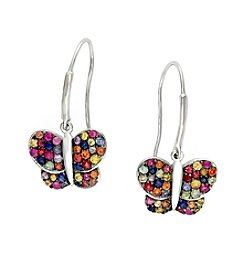 Effy® Multicolor Sapphire Butterfly Earrings in Sterling Silver