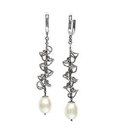 Effy® Freshwater Pearl Drop Earrings in Sterling Silver
