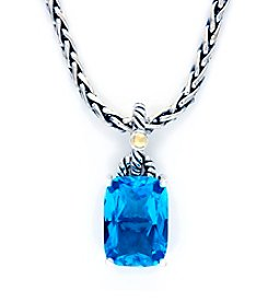 Effy® Blue Topaz Pendant in Sterling Silver and 18K Gold