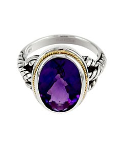 Effy® Amethyst Ring in Sterling Silver and 18K Gold