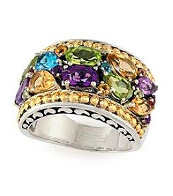 Effy® Multi Gem Ring in Sterling Silver and 18K Gold