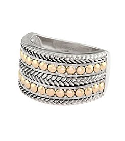 Effy® Balissima Collection Ring in Sterling Silver and 18K Gold