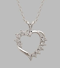 Sterling Silver Polished Heart 18