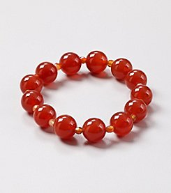 Natural Carnelian with Small Faceted Carnelian 7.5