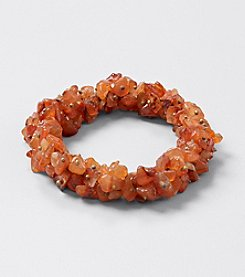 Genuine Carnelian Chips Elastic 7