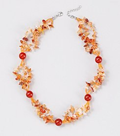 Genuine Tonal Large Carnelian Round Beads Mixed with Carnelian Chips 18