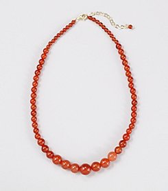 Genuine Graduated Carnelian Beads 16