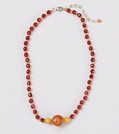 Genuine Faceted Carnelian 16