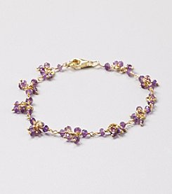 Faceted Amethyst Cluster Linked Bracelet