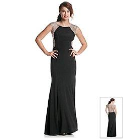 Xscape Crystal Beaded Back Dress