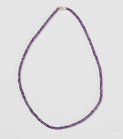 Faceted Amethyst Rondelle 17