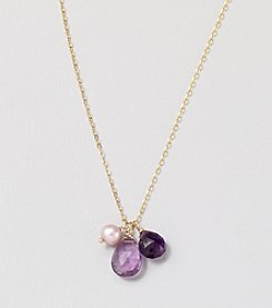 Faceted Amethyst Tonal Briolette Charms 16